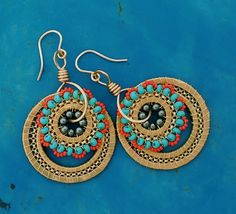 Octavia Bloom's Wire Work Medallions - Washers, wire, beads & chain.