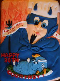 Duke Blue Devil Cake by bakers-cakes, via Flickr