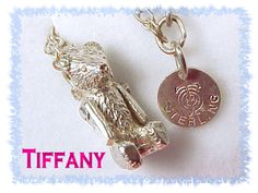 TIFFANY & Co ~ RARE 1982 Sterling Silver Teddy Bear AWARD Necklace - Arms Move Moveable  @@ FREE SHIPPING @@@