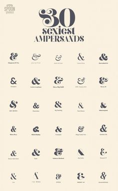 30 Sexiest Ampersands - Spoon Graphics