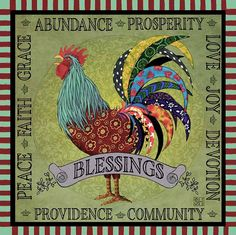Image of Square Tin Sign Blessings