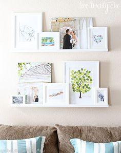 Ikea Picture Ledge Floating Book Shelf Spice Rack Holder Wall Photo Mosslanda | eBay
