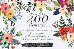 Petite Fleur Designers Toolkit by Mia Charro on @creativemarket
