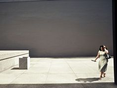 Sam Abell woman on the plaza