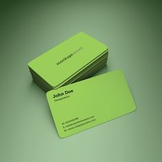 Rounded Corner Business Card Mockup
