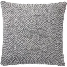 """Pottery Barn - Washed Diamond Pillow Cover, 20"""", Flagstone"""