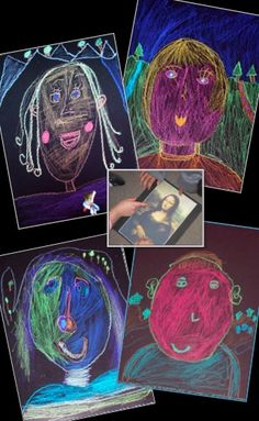 Mona Lisa Observation and Self-Portrait - an art lesson combining portrait and landscape drawing with art history and appreciation. Includes Leonardo da Vinci artist biography and 'draw and write' student worksheet.