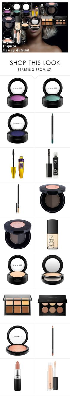 Beyonce 'Mine' Inspired Makeup Tutorial by oroartye-1 on Polyvore featuring beauty, NARS Cosmetics, Eyeko, Anastasia Beverly Hills, MAC Cosmetics and Maybelline