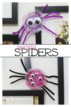 fun to spider craft to make with kids thats an easy last minute halloween decoration - Last Minute Halloween Decorations