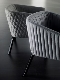 Meridiani - 'Lolita Diamond' and 'Lolita Stripe' armchairs