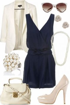 Navy and Cream #style #fashion #outfit