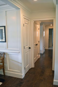 The Cape Cod Ranch Renovation: Great Room & Entry Like the black knobs on the doors