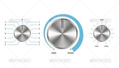 Realistic Graphic DOWNLOAD (.ai, .psd) :: http://sourcecodes.pro/pinterest-itmid-1000083785i.html ... Vector volume balance knobs ...  aluminum, audio, balance, button, clean, control, equipment, isolated, knob, max, min, silver, volume  ... Realistic Photo Graphic Print Obejct Business Web Elements Illustration Design Templates ... DOWNLOAD :: http://sourcecodes.pro/pinterest-itmid-1000083785i.html
