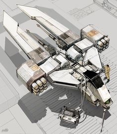 concept ships: Spaceship art by Eric Lloyd Brown