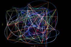 Open Geometry. Aus der Serie Metamathematik. 2013 Rotierendes Raumobjekt aus Draht, Leuchtfarbe und Leuchtwolle Skulptur, Objekt, Video, Installation, Fotografie Markus Wintersberger 2013, via Flickr