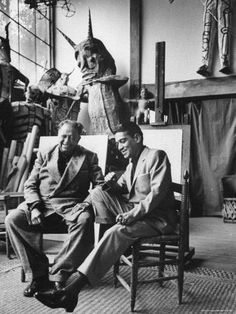 cantinflas with diego in the casa azul