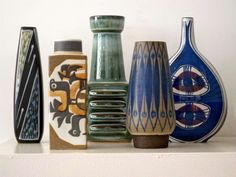 Best Ceramics Tips : – Picture : – Description Selection of Danish midcentury pottery by dona -Read More – - Mid Century Art, Mid Century Decor, Mid Century Style, Ceramic Pottery, Pottery Art, Ceramic Art, Mid Century Modern Design, Mid Century Modern Furniture, Vases