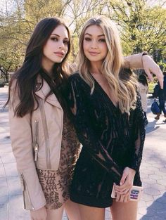 Gigi Hadid and Charlotte Kemp Muhl New York shoot; model style; pale skin makeup