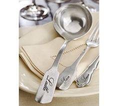 Antique-Silver Ladle & Serving Set #potterybarn