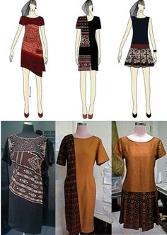 Dress ikat with linen
