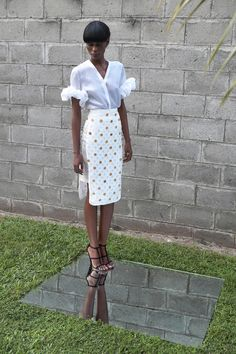 We're going crazy over this look from up-and-coming label Maki Oh.