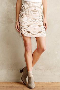 Genevieve Sequin Skirt - anthropologie.com #anthrofave
