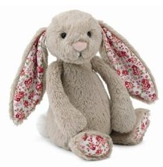 "Jellycat Small Bashful Blossom Beige Bunny Rabbit 7"" Plush Stuffed Animals $12.25"