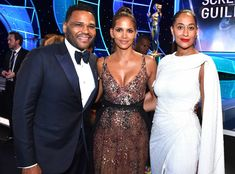 Anthony Anderson, Halle Berry & Tracee Ellis Ross: 2018 SAG Awards: Candid Moments