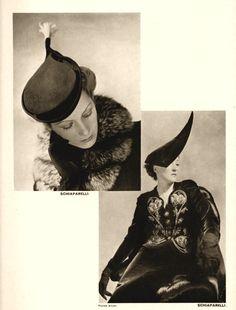 Schiaparelli hats    1938