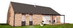 maison bois optimisée 80 m² garage toit ardoise tuile ou plat