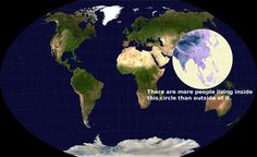 More Than Half the World's Population Lives Inside This Circle