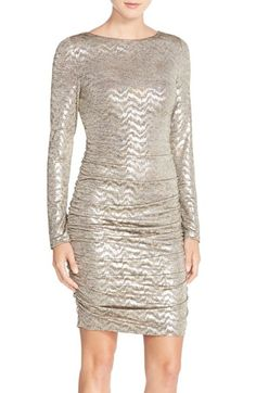 Vince Camuto Metallic Jersey Body-Con Dress available at #Nordstrom