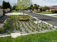 Raingarden retrofit, Kingston Vic. from www.wsud.org · http://www.gardendrum.com/2012/09/10/make-a-rain-garden/#