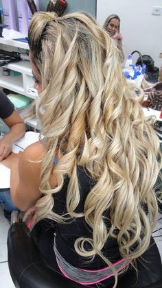 Mega hair,ficou lindo #cachos