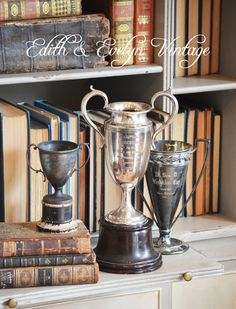 RARE Vintage French Trophy Cup Silverplate Wm A by edithandevelyn on Etsy
