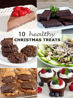 10 Healthy Christmas Treats sure to please even those who believe healthy food cant be savory and delicious (Paleo gluten free). Healthy Christmas Cookies, Healthy Christmas Recipes, Healthy Cookie Recipes, Holiday Cookie Recipes, Christmas Desserts, Healthy Treats, Healthy Food, Xmas Recipes, Christmas Foods