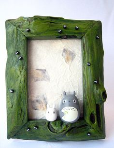 My Neighbor Totoro TEAK WOOD Picture Frame