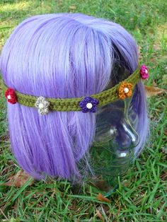 NyanPon.com: She Wore Flowers in Her Hair...free pattern for this pretty flowered headband!