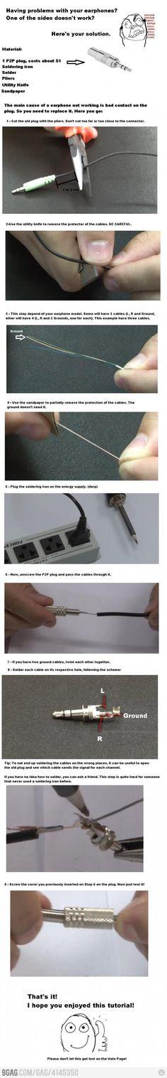 How to fix earphones