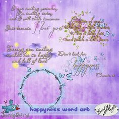 Happyness word art by Scrap'Angie