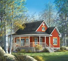Cottage House Plan chp-32430 at COOLhouseplans.com