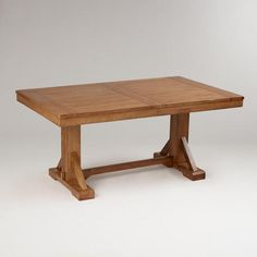 One of my favorite discoveries at WorldMarket.com: Antique Honey Verona Trestle Table.  Here is another item for Todd to build.