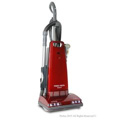 Prolux 7000 Upright Sealed Hepa Vacuum Cleaner with Tools, Reds/Pinks