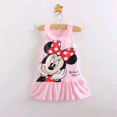 Baby Girls Minnie Mouse Dress, Kids Cartoon Tops Clothes Party Dress  2-3Y  GH01 #NEW #DressyEverydayHoliday