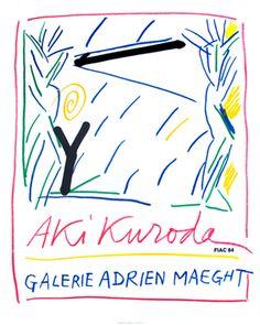 Kuroda Aki – Affiche pour une exposition à la Galerie Maeght à la  Fiac (1984), Paris