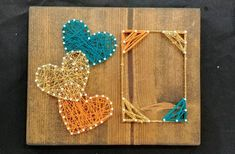 String Art Templates, String Art Patterns, Doily Patterns, Dress Patterns, Nail String Art, String Crafts, Resin Crafts, Friend Birthday Gifts, Photo Heart