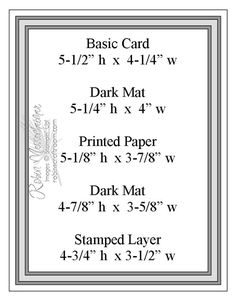 layered card measurements - bjl