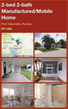2-bed 2-bath Manufactured/Mobile Home in Port Charlotte, Florida ►$77,000 #PropertyForSale #RealEstate #Florida