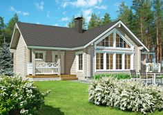 Home Fashion, Wooden Houses, Koti, Outdoor Structures, House Styles, Cottages, Classic, Imagination, Houses
