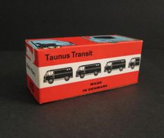 Vintage TEKNO Empty BOX ONLY Røde Kors FORD RED CROSS Van DENMARK Die-Cast